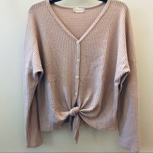 Altar'd State Women's Button Down Knot Sweater